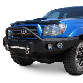 Iron Bull Bumpers® - Full Width Black Front HD Bumper with Light Bar