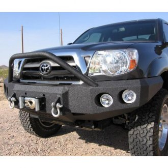 Iron Bull Bumpers® - Full Width Black Front Winch HD Bumper with Pre-Runner Guard