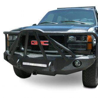 Iron Bull Bumpers® - Full Width Black Front HD Bumper with Defender 8 Guard