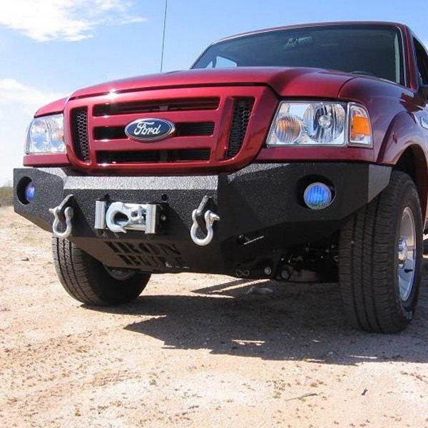 iron bull bumpers ford ranger 2008 full width black front winch hd bumper. Black Bedroom Furniture Sets. Home Design Ideas