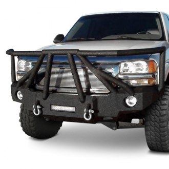 Iron Bull Bumpers® - Full Width Black Front HD Bumper with Sniper 8 Guard