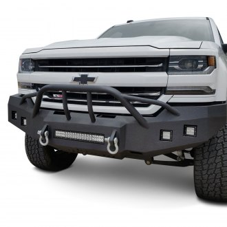 Iron Bull Bumpers® - Full Width Black Front HD Bumper with Baja 1000 Guard