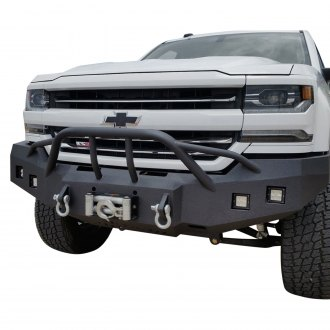 Iron Bull Bumpers® - Full Width Black Front Winch HD Bumper with Baja 1000 Guard