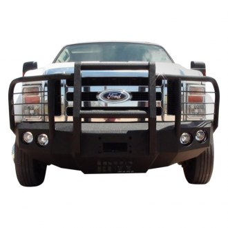 Iron Bull Bumpers® - Full Width Black Front Winch HD Bumper with Carnage Guard