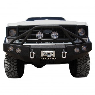 Iron Bull Bumpers® - Full Width Black Front Winch HD Bumper with Defender 4 Guard