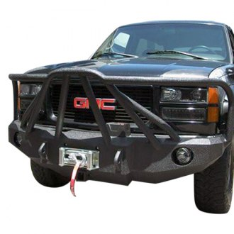 Iron Bull Bumpers® - Full Width Black Front Winch HD Bumper with Defender 8 Guard