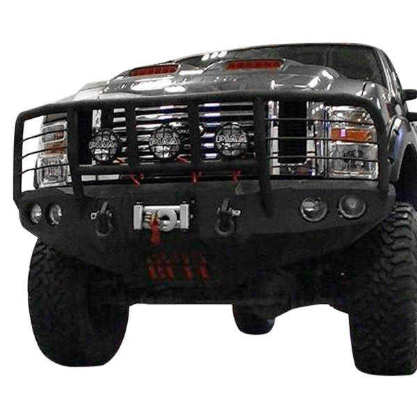 Iron Bull Bumpers Full Width Black Front Winch Hd Bumper With Enforcer Guard