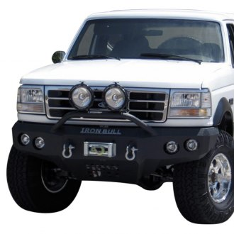 Iron Bull Bumpers® - Light Bar Series Base Front Winch Black Bumper