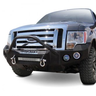 Iron Bull Bumpers® - Full Width Black Front HD Bumper with Pre-Runner Guard
