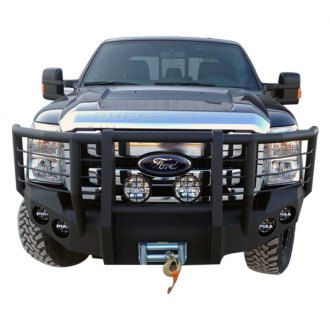 Iron Bull Bumpers® - Full Width Black Front Winch HD Bumper with Shredder Guard