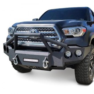 Iron Bull Bumpers® - Full Width Black Front HD Bumper with Sniper 4 Guard