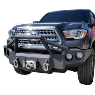 Iron Bull Bumpers® - Full Width Black Front Winch HD Bumper with Sniper 4 Guard