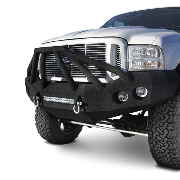 Iron Bull Bumpers Full Width Black Front Hd Bumper With Sniper 6 Guard