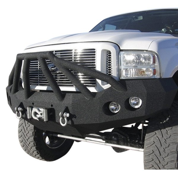 Iron Bull Bumpers Full Width Black Front Winch Hd Bumper With Sniper 6 Guard