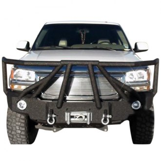 Iron Bull Bumpers® - Full Width Black Front Winch HD Bumper with Sniper 8 Guard