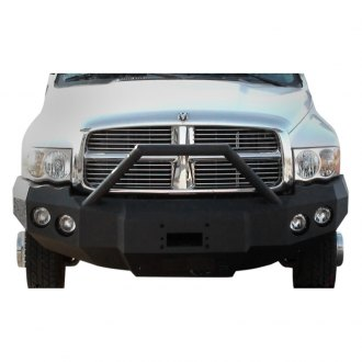 Iron Bull Bumpers® - Full Width Black Front Winch HD Bumper with Sniper Guard