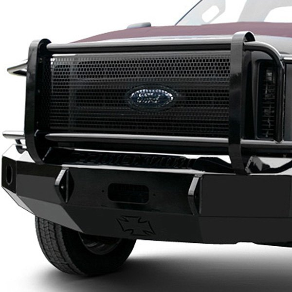 Image may not reflect your exact vehicle! Iron Cross® - HD Series Front Bumper with Grille Guard