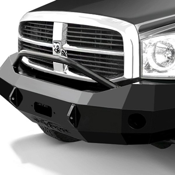 Image may not reflect your exact vehicle! Iron Cross® - HD Series Front Bumper with Push Bar