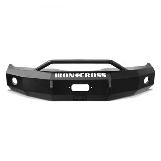 Image may not reflect your exact vehicle! Iron Cross® - Push Bar Front Bumper