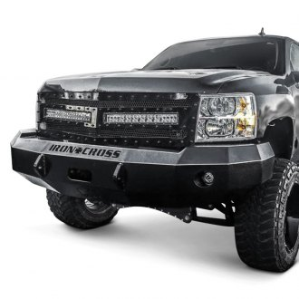 Iron Cross® - Heavy Duty Series Full Width Black Front Winch HD Bumper