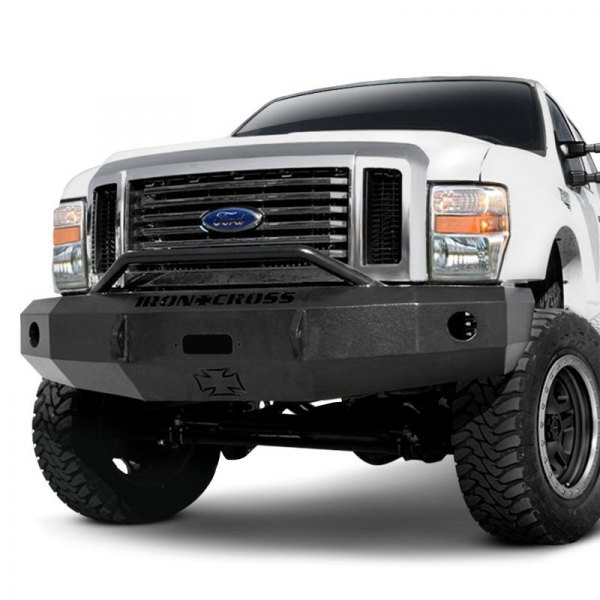iron cross ford f 250 2008 heavy duty series full width front winch hd bumper with push bar. Black Bedroom Furniture Sets. Home Design Ideas
