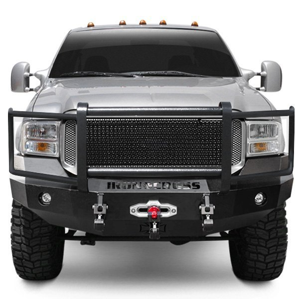 F350 King Ranch >> Iron Cross® - Ford F-250 2006 Heavy Duty Series Full Width Front Winch HD Bumper with Grille Guard