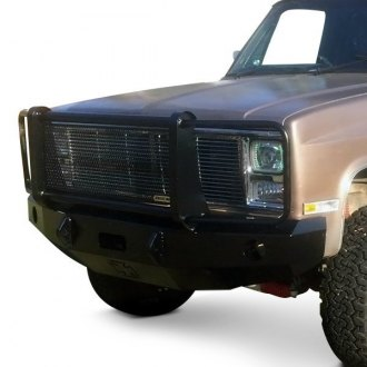 Iron Cross® - Heavy Duty Series Full Width Front Winch HD Bumper with Grille Guard