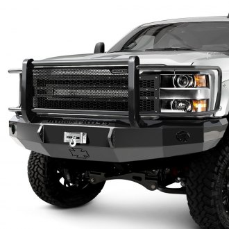 Iron Cross® - HD Series Full Width Front HD Winch Bumper with Brush Guard