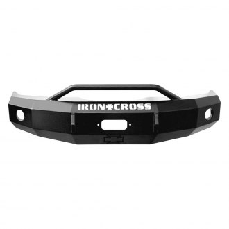 Iron Cross® - Heavy Duty Series Full Width Front HD Winch Bumper with Push Bar