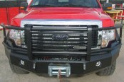 Iron Cross® - Heavy Duty Series Full Width Front HD Winch Bumper with Grille Guard