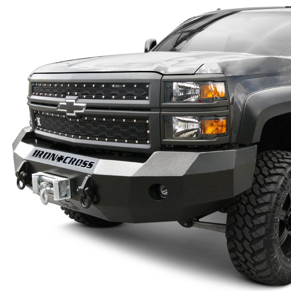 Iron Cross® - Heavy Duty Series Full Width Front HD Black Bumper Image may not reflect your exact vehicle!