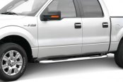 "Image may not reflect your exact vehicle! Iron Cross® - 3"" Stainless Steel Round Tube Steps, Cab Length - Installed"