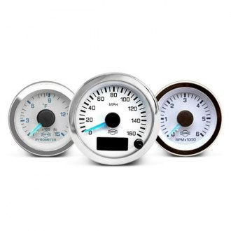 ISSPRO® - Ev™ In-Dash White Gauges