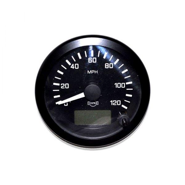 isspro r5482m ev 3 3 8 black speedometer gauge 0 120 mph. Black Bedroom Furniture Sets. Home Design Ideas