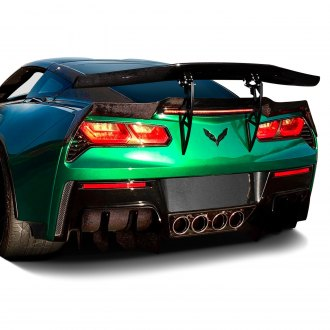 Ivan Tampi Customs® - XIK GT Style Carbon Fiber Rear Spoiler with Aluminum Brackets