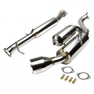 J2 Engineering® - Stainless Steel Cat-Back Exhaust System with Single Rear Exit