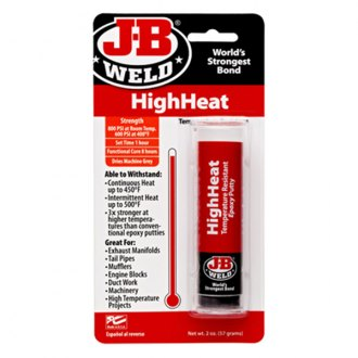 JB Weld® - High Heat Epoxy Putty Stick for Manifolds Tail Pipes Mufflers and Other High Temperature Projects