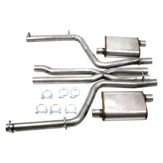 JBA® - Stainless Steel Cat-Back Exhaust System with Split Rear Exit