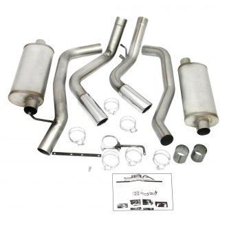 JBA® - Stainless Steel Dual Cat-Back Exhaust System with Side Swept Exit