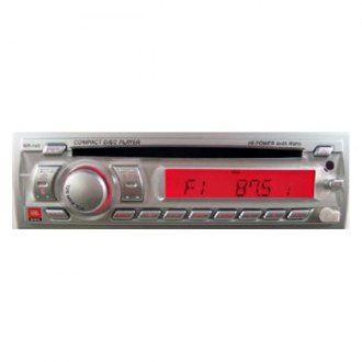 JBL® - Silver AM/FM/CD Stereo Face Front Aux In