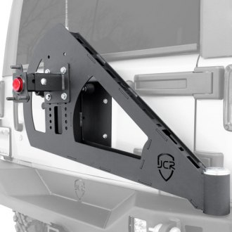 JcrOffroad® - Shield Gate Swinging Rear Tire Carrier