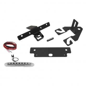 JcrOffroad® - Black Powder Coat Spare Tire License Plate Relocation Bracket