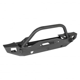 JcrOffroad® - Crusader Mid Width Front Winch Bumper with Hoop