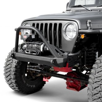 JcrOffroad® - Dagger Stubby Front Winch HD Bumper with Pre-Runner Guard