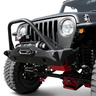 JcrOffroad® - Mauler Stubby Front Winch HD Bumper with Stinger