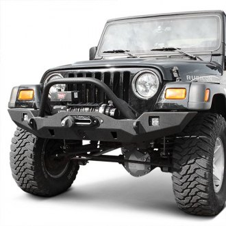 JcrOffroad® - Vanguard Full Width Front Winch HD Bumper with Pre-Runner Guard