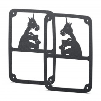 JcrOffroad® - Handicorn Black Tail Light Guards