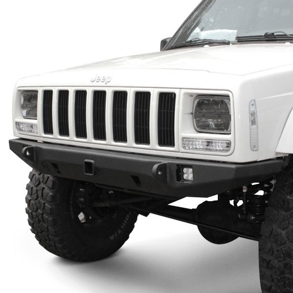 "Jeep Cherokee Xj Bumpers >> JcrOffroad® - Jeep Cherokee 1999 Crusader Full Width Front HD Bumper with 2"" Receiver Hitch"