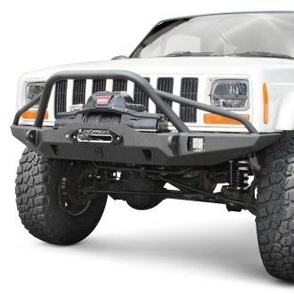 JcrOffroad® - Vanguard Full Width Front Winch HD Bumper with Hoop