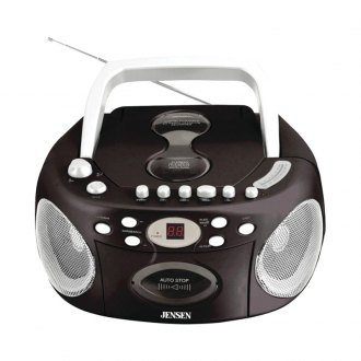 Jensen® - Portable Stereo CD Player with Cassette and AM/FM Radio